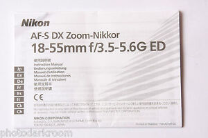 nikon af s dx nikkor 18 55mm 1 3 5 5 6 instruction manual rh ebay co uk Bissell PowerSteamer User Manual User Manual