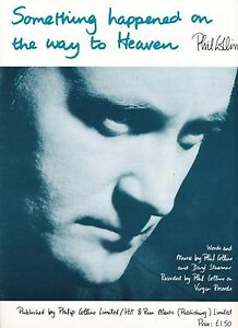 something happened on the way to heaven phil collins 1989 sheet