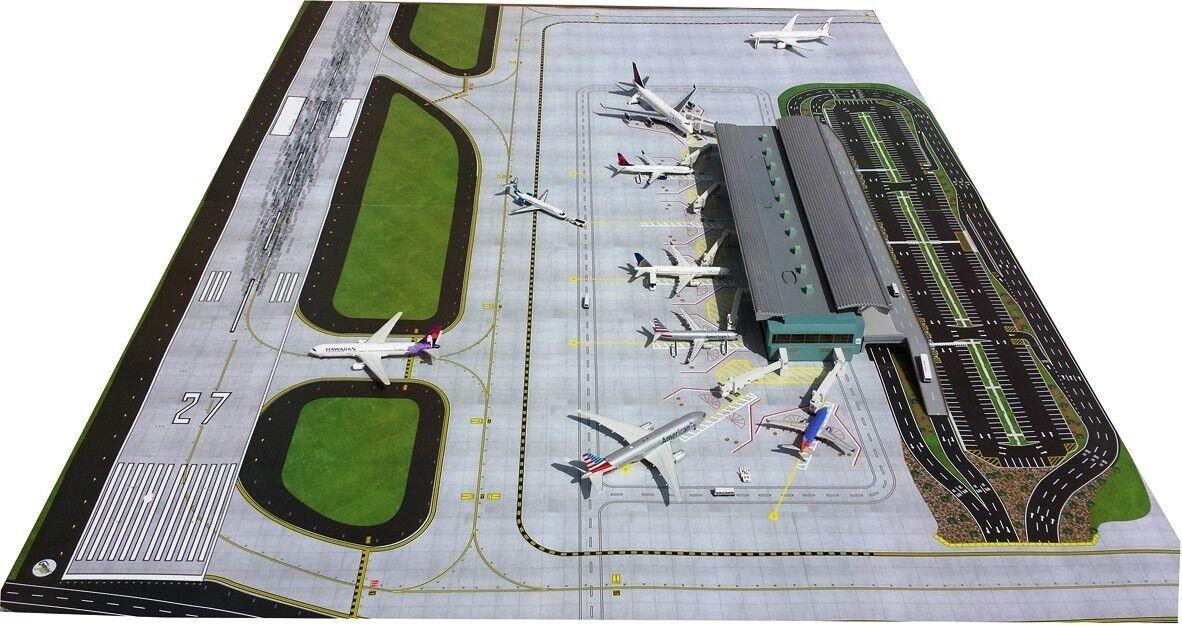 Geminijets GJAPS006 1 400 2 Piezas Aeropuerto Alfombrilla Set (para Terminal)