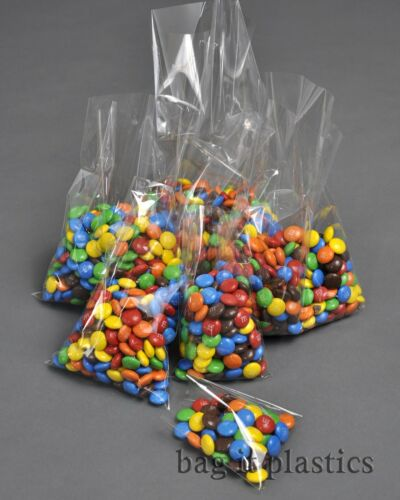CRYSTAL CLEAR CELLOPHANE SWEET CANDY CELLO DISPLAY LOLLIPOP BAG BAGS  FOOD SAFE