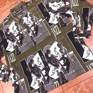 86c7f887 Men's Pelle Pelle Jazz Dk.Olive | Cream | Black Long Sleeve Button ...