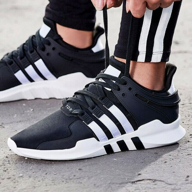 info for 6960f 6f16a ADIDAS MEN'S ORIGINALS EQT SUPPORT ADV SHOES B37351 BLACK/WHITE/BLACK size  7.5