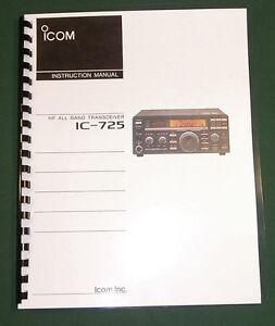 ICOM IC-706MKII Instruction Manual Premium Card Stock Covers /& 32 LB Paper!