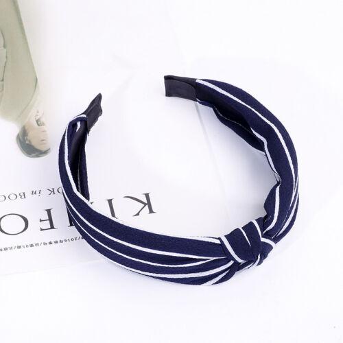Ladies/'s Girls Print Headband Hairband Knot Cross Hair Band Hair Accessories
