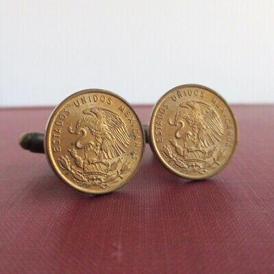 Centavo Coin Cuff Links Vintage Swank