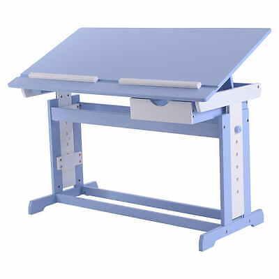 Bureau enfant ergonomique table inclinable réglable étude dessin lecture meuble