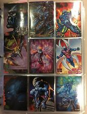 1995 Marvel Masterpieces-BASE Set of 151 Cards NM in plastic sleeves