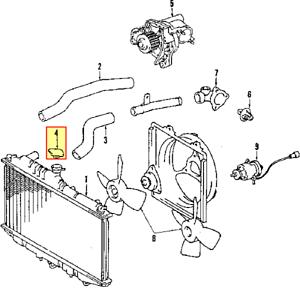 For Toyota Genuine Radiator Cap 1640163010