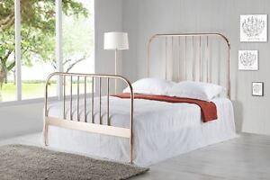 Modern Luxury Rose Gold And Gold Metal Bed Frame Bedroom Furniture New In Stock Ebay
