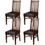 yisun dining chair covers, solid pu leather waterproof and oilproof stretch 4