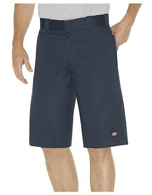 "Dickies Mens DARK NAVY 13/"" Relaxed Fit Multi-Pocket Work Shorts WR640DN"