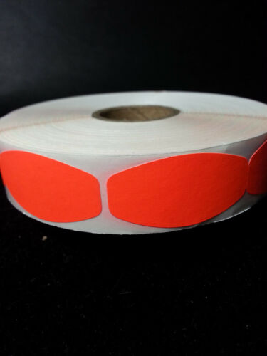 FL RED BLANK LABELS 1000 ea// ROLL free shipping STICKERS