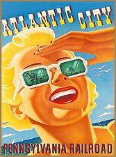 1950 Philadelphia Liberty Bell Pennsylvania Railroad Vintage Travel Poster 20x30