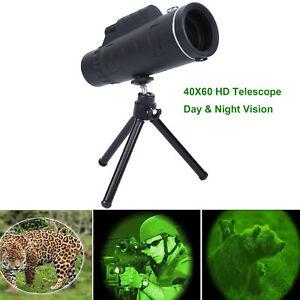 40X60-Zoom-Optical-HD-Lens-Monocular-Telescope-Tripod-Clip-Day-amp-Night-Vision