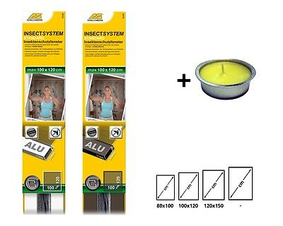 Schellenberg Insektenschutzfenster Standard von 80x100cm bis 120x150cm NEU