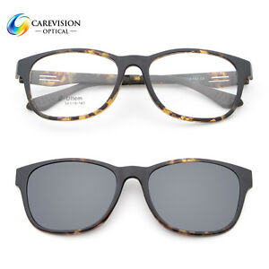 13275080a3 Image is loading Fashion-Polarized-Mirror-Clip-on-Eyeglasses-Optical-Frame-