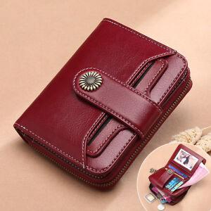 Ladies-Women-039-s-Genuine-Leather-RFID-Blocking-Wallet-Bifold-Clutch-Card-Purse-Bag
