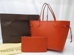 5cf39d827385 Auth LOUIS VUITTON Epi Neverfull MM Shoulder Tote Bag with Pouch ...
