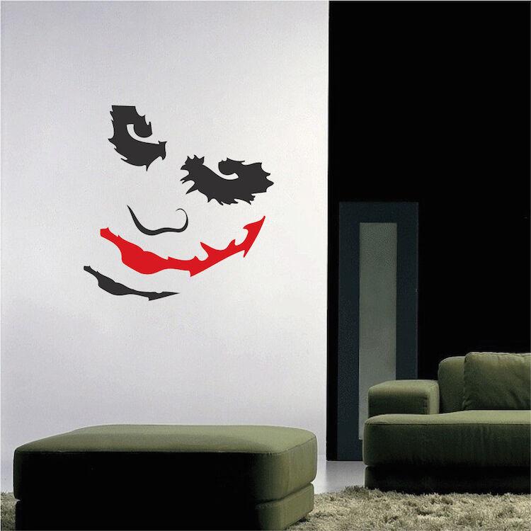 Joker Wall Decal Batman Mural Super Villain Gotham The Dark Knight Art, h60