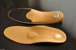 LUXUS-PREMIUM-Orthopaedische-Einlegesohlen-Leder-Sohlen-Schuhe-Einlagen-Fussbett