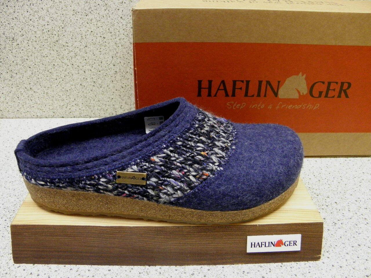 Haflinger® ROTuziert   Grizzly Anke jeans + gratis Premium - Socken  (H55)