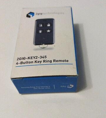 "Brand New /""3/"" 2GIG 2GIG-KEY2-345 4 Button Wireless Remote Keyfob"