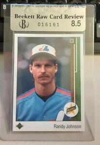 RCR BGS Graded 8.5 1989 Upper Deck Randy Johnson Baseball Rookie Card # 25