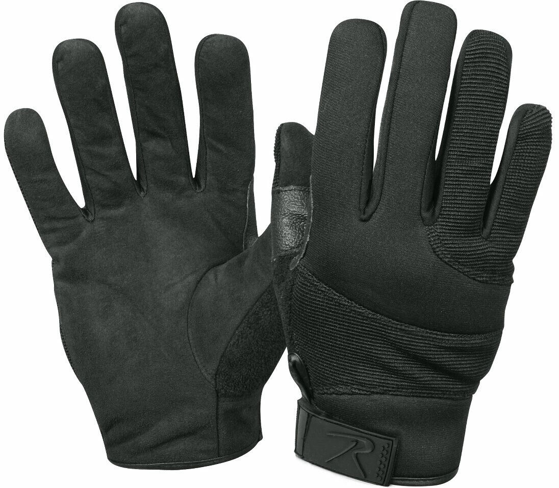 Black Cut Resistant Street Shield Police Search Gloves