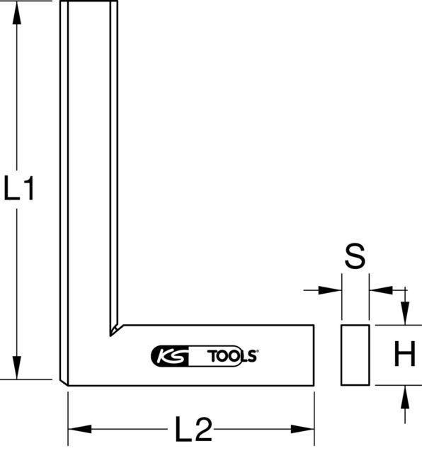 KS TOOLS Flachwinkel nach DIN 875/2, 500mm (300.0261)