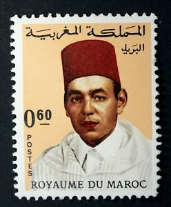 YT-545-MAROC-MOROCCO-Timbre-Neuf-MNH-Serie-courante-Roi-Hassan-II-1968