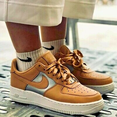 bas prix dcd8c 98909 Nike Air Force One Taille UK 5 Femme Chaussures En Cuir ...