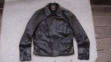 vintage GOLDTOP biker leather jacket motorcycle zips black size M 40 GOLD TOP