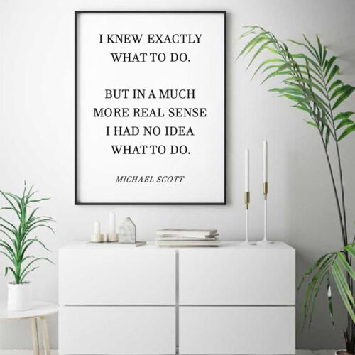 The Office TV Show Art Canvas Poster Painting Michael Scott Quotes Office Decor