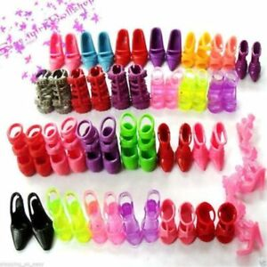 New-15-Pairs-Trendy-Assorted-High-Heel-Shoes-Cloth-Accessories-For-Doll
