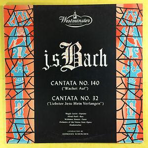 Bach-Cantatas-No-140-amp-No-32-Hermann-Scherchen-WL-5122-Ex-Zustand
