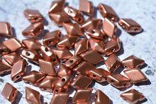 Gold Inlay  Beads  19x14mm 8 Czech Glass Turtles  Chroust