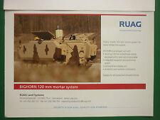 10/2005 PUB RUAG AEROSPACE LAND SYSTEMS BIGHORN 120 MM MORTAR SYSTEM ORIGINAL AD