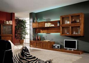 Parete attrezzata soggiorno vari colori sospesa ebay - Colori pareti soggiorno classico ...