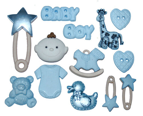Jesse James Buttons - Dress It Up - BABY BOY 2120~ Diaper Pins Baby Items Crafts