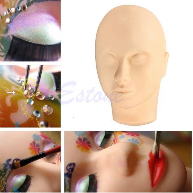 Training Massage Mannequin Flat Head Makeup Practice Eyelash Lashes Extension