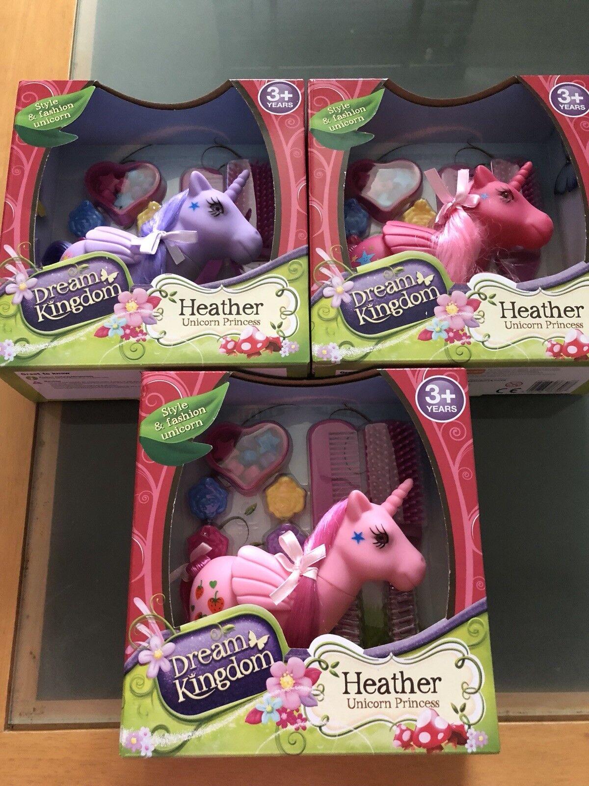 Dream Kingdom Set Of 3 Heather Princess Unicorns