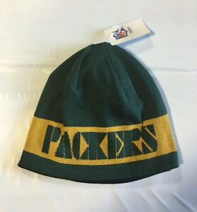 Green Bay Packers Knit Beanie Winter Hat Toque Skull Cap NEW Block ... bbd0bbdd1
