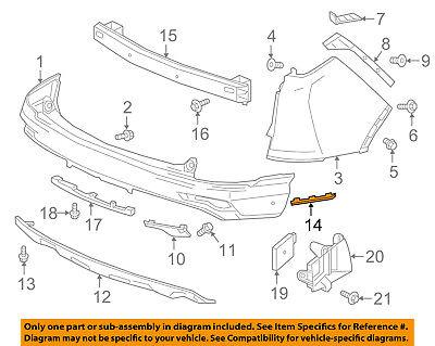 Genuine Honda Wheel Opening Molding 74453-TLA-A01