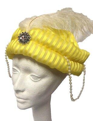 Desert Prince Yellow Hat Turban Wiseman Arabian Sultan Costume Accessory Men