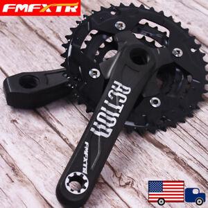 104-64BCD-24-32-42t-3x10S-170mm-Aluminum-MTB-Road-Bike-Chainring-Crank-Crankset