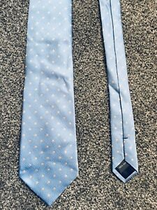Austin Reed Light Blue Spotted Smart 100 Silk Tie 3 5 Wide 57 Long Ebay