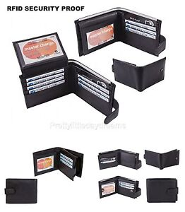 0890047b4c5f Details about Alpine Mens Leather Wallet RFID SAFE Contactless Card  Blocking ID Protection