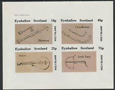 GB Locals - Eynhallow (1360) 1982 EARLY MUSICAL INSTRUMENTS imperf sheet u/m