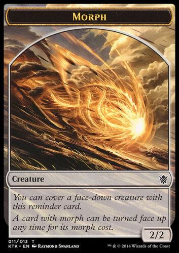 NM//SP MORPH Khans of Tarkir Magic MTG FTG SAME ART 10 Token Cards
