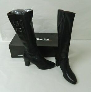 Scarpe Stivali donna con tacco NERO GIARDINI N. 40 Neri OMA157